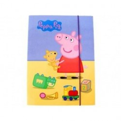 ENVELOPE WITH RUBBER PEPPA PIG