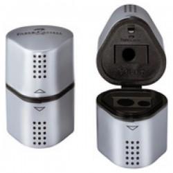 Faber Castell 183800 grip triple silver sharpener