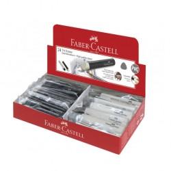 Eraser Faber Castell 182336 Grip tri white/black